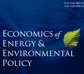 Just Published! Economics of Energy & Environmental Policy