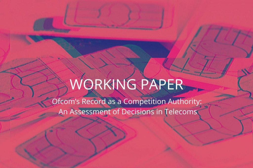 Working Paper: Ofcom's Record as a Competition Authority: An Assessment of Decisions in Telecoms