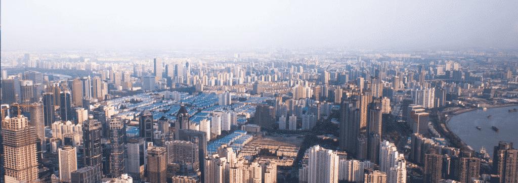 shangay aerial view