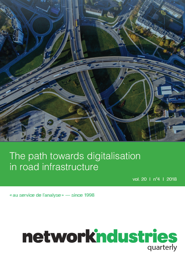 Network Industries Quarterly, Vol. 20, No. 4 – The path towards digitalisation in road infrastructure