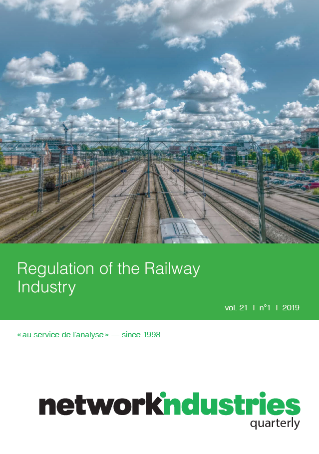 Network Industries Quarterly, Vol. 21, No. 1 – Regulation of the Railway Industry