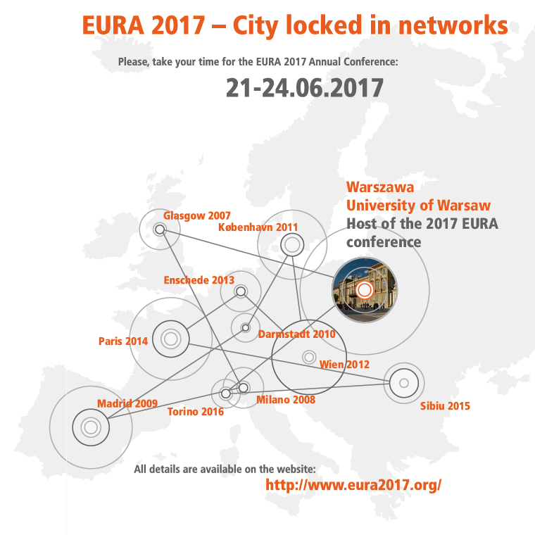 European Urban Research Association (EURA) - Call for papers for the Annual Conference