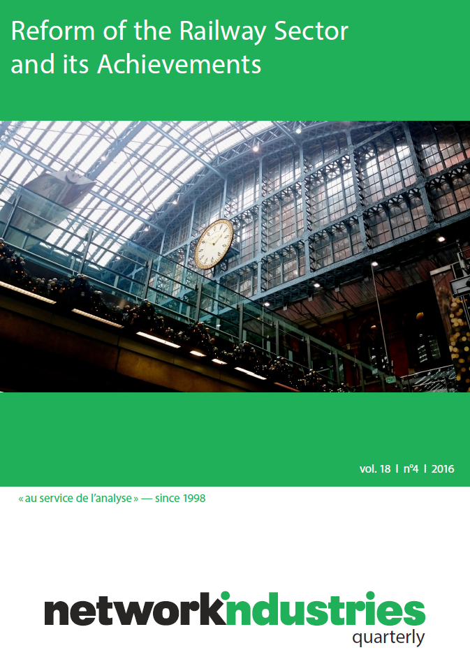 Network Industries Quarterly, Vol. 18, No 4 – Reform of the Railway Sector and its Achievements