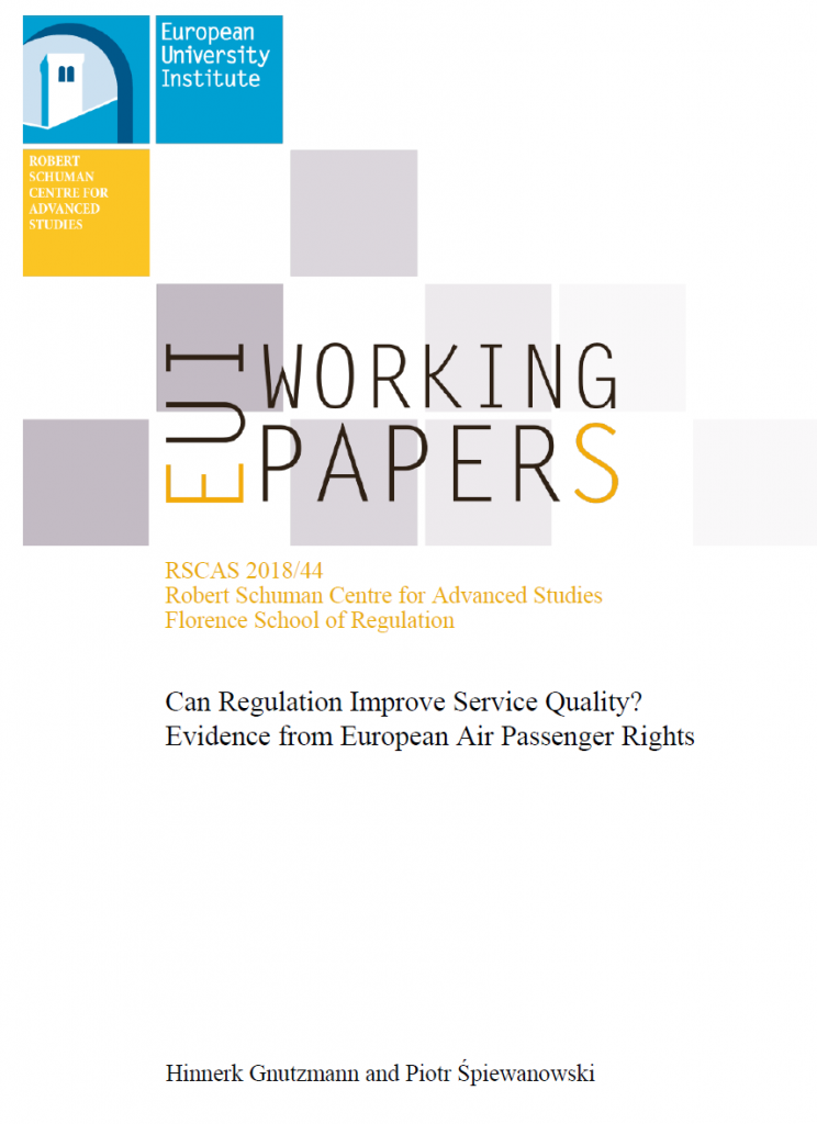 New Working Paper: Can Regulation Improve Service Quality?