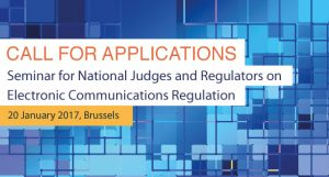 Seminar for National Judges and Regulators on Electronic Communications Regulation